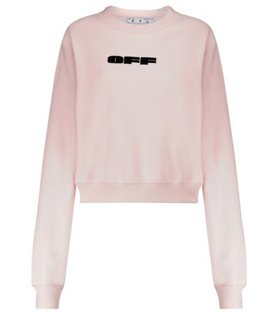 Off-White - Bold logo cotton sweatshirt | Mytheresa