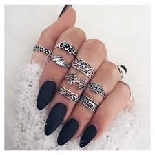 grunge aesthetic rings - Google Search