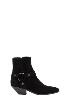 Saint Laurent West Harness Boots With Ring