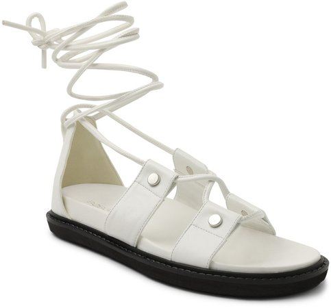 Gianni Ankle Wrap Platform Sandal