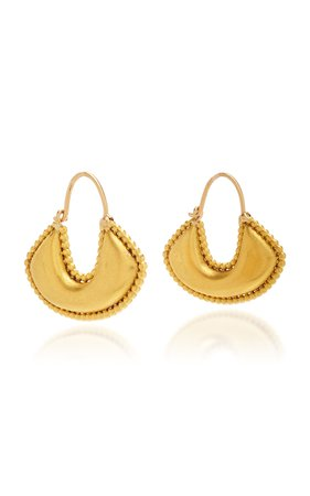 Prounis Granulated Boat Shaped Earrings