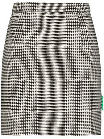Off-White houndstooth-check Mini Skirt