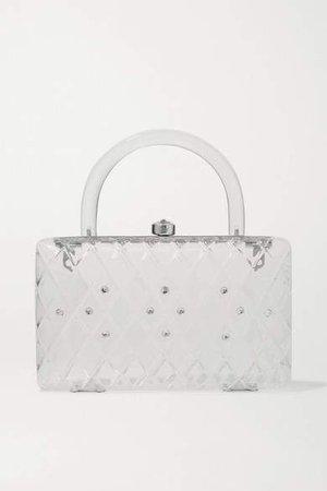 Rio Crystal-embellished Acrylic Tote - White