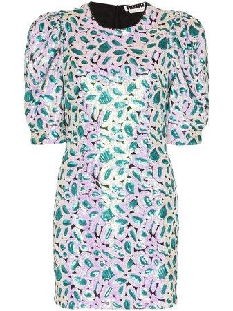 ROTATE Christina Sequinned Mini Dress - Farfetch