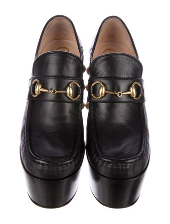 GUCCI 2017 Studded Leather Horsebit Loafers