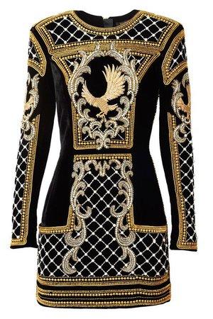 black gold dress