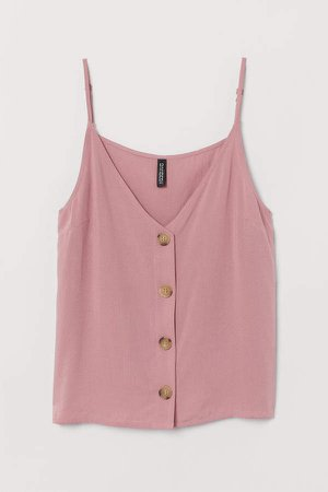 V-neck Camisole Top - Pink