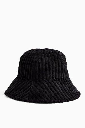 Black Jumbo Corduroy Bucket Hat | Topshop
