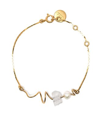 Shop gold Marni squiggle embellished bracelet with Express Delivery - Farfetch