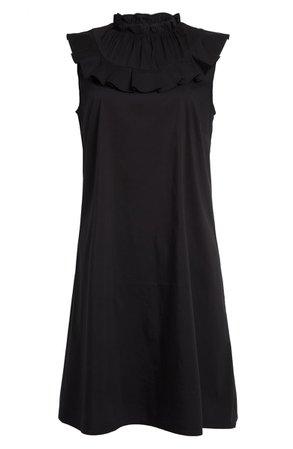 Halogen® Sleeveless Ruffle Yoke Shift Dress (Regular & Petite) | Nordstrom
