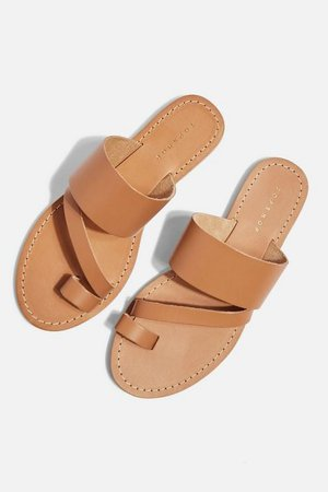 Topshop Honey Tan Flat Sandals | Cheap Summer Sandals | POPSUGAR Fashion Photo 5