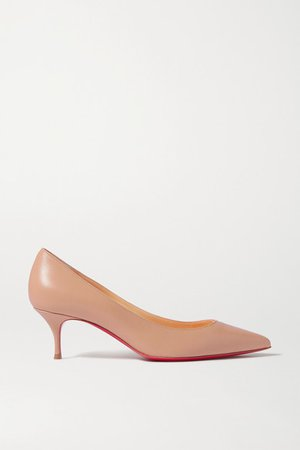 Kate 55 Leather Pumps - Neutral