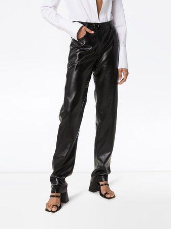 Matériel high-rise straight-leg Trousers - Farfetch