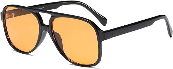 Amazon.com: YDAOWKN Classic Vintage Aviator Sunglasses for Women Men Large Frame Retro 70s Sunglasses: Clothing