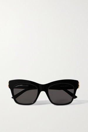 Black Cat-eye acetate sunglasses | Balenciaga | NET-A-PORTER