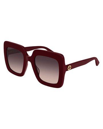 Gucci Oversized Square Acetate Sunglasses | Neiman Marcus