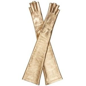 Gucci Metallic fingerless elbow-length gloves
