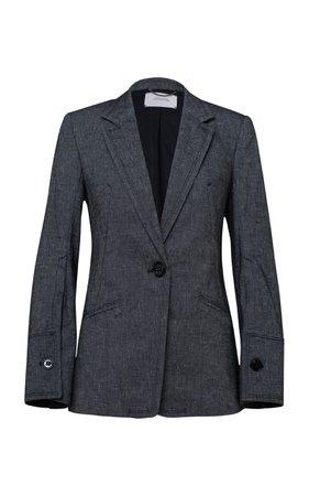 Dorothee Schumacher Denim Coolness Tailored Blazer