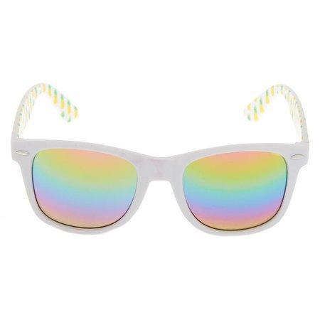 Pineapple Retro Sunglasses - White | Claire's US