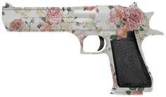 flower roses pink gun