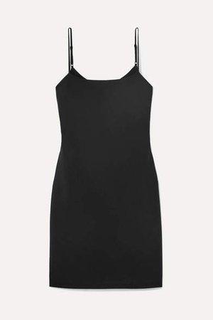 Stretch-wool Mini Dress - Black