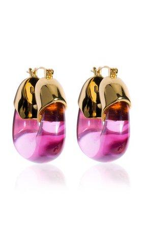 Organic Acrylic Hoop Earrings By Lizzie Fortunato | Moda Operandi