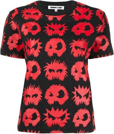 monster pattern T-shirt