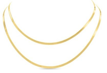 Gold double Snake Necklace