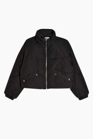 Black Classic Padded Puffer Jacket | Topshop