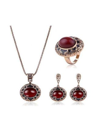 maroon and black necklace and earrings - Google Search