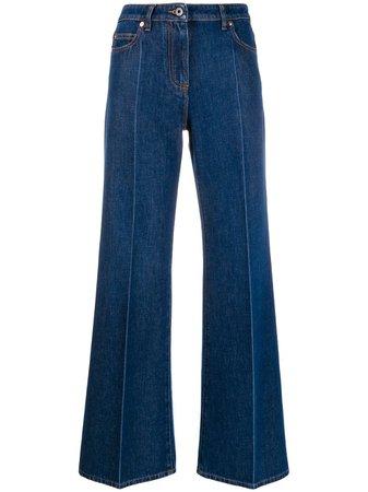 Valentino VLOGO wide-leg Jeans - Farfetch