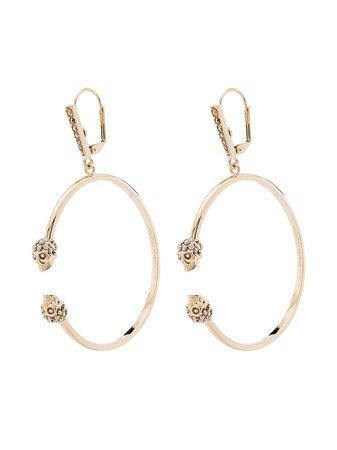 Alexander McQueen Skull Charm Hoop Earrings - Farfetch