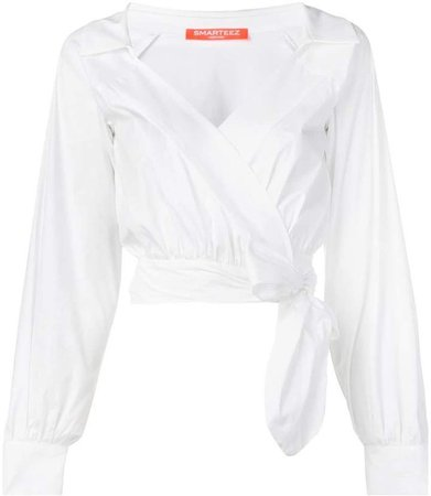 Smarteez cropped wrap blouse