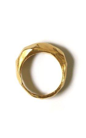Gold Plated Marble Ring By Reggie | Moda Operandi
