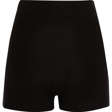 Black knitted cycling shorts | River Island
