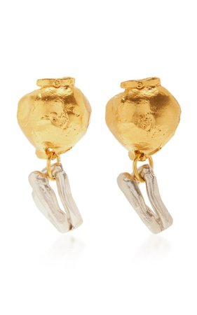 24k Gold-Plated And Sterling Silver Earrings By Alighieri | Moda Operandi
