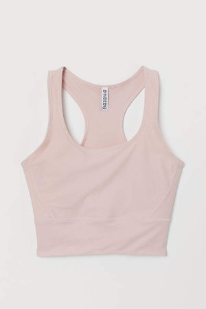 Cropped Tank Top - Pink