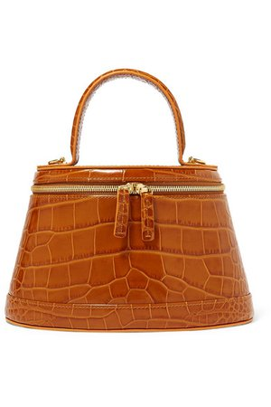 BY FAR | Annie croc-effect leather tote | NET-A-PORTER.COM