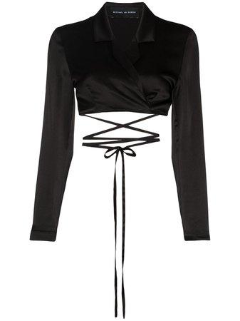 Michael Lo Sordo Tie Detail Cropped Blouse - Farfetch