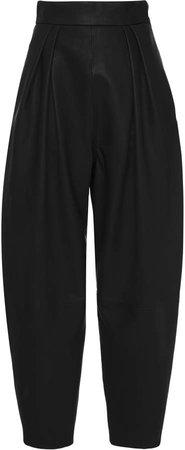 Alberta Ferretti Pleated Leather Pants