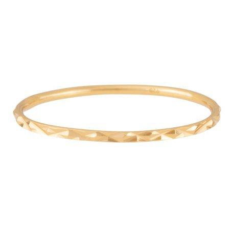 Juliette Collection - 18K Gold Plated Sterling Silver Stack Ring, Diamond Cut - Walmart.com - Walmart.com