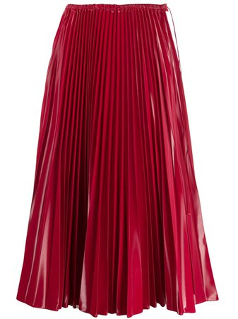 Fendi Pleated Midi Skirt - Farfetch