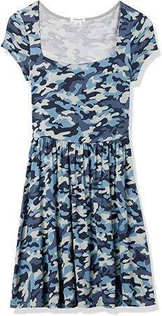 Amazon.com: Amazon Brand - Wild Meadow Women's Short Sleeve Soft Square Neck Mini Knit Dress: Clothing