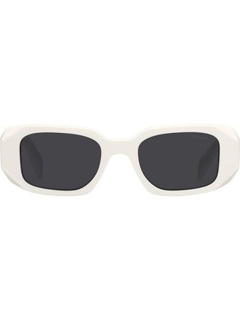 Shop Prada Eyewear rectangle-frame tinted sunglasses with Express Delivery - FARFETCH