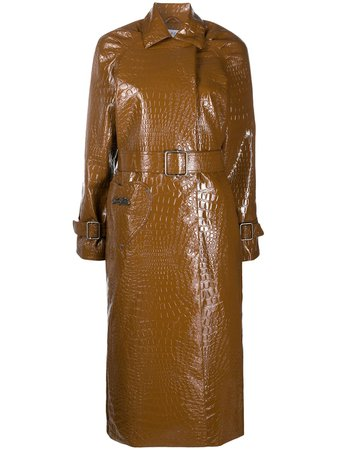 Saks Potts Patent Trench Coat - Farfetch