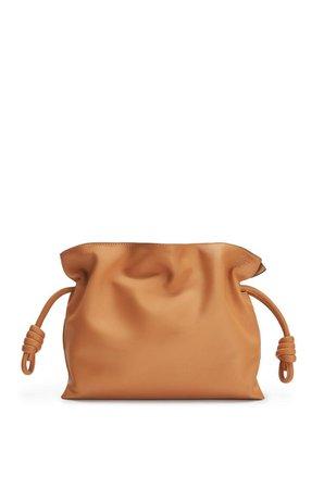 Flamenco clutch in nappa calfskin Warm Desert - LOEWE