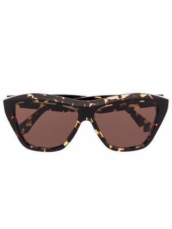 Bottega Veneta Eyewear rectangle frame sunglasses - FARFETCH