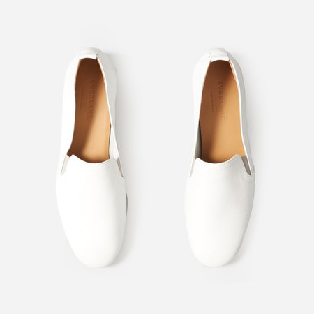 Women's Leather Slip-On | Everlane white