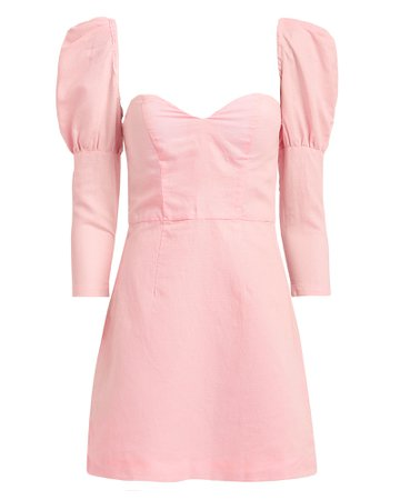 Powder Puff Sleeve Mini Dress