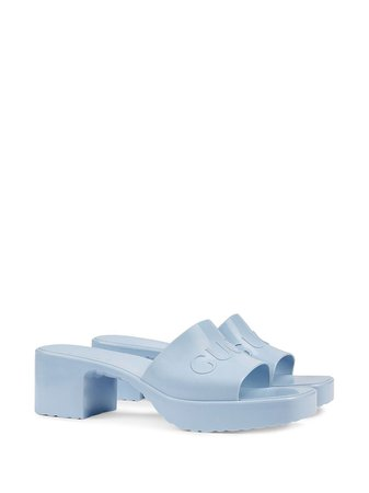 Gucci Logo low-heel Slide Sandals - Farfetch